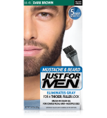GEL COLORANTE DE PEINADO JUST FOR MEN® PARA BIGOTE, BARBA Y PATILLAS (Marrón oscuro negro) M45