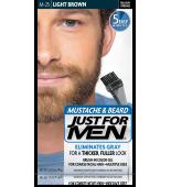 GEL COLORANTE DE PEINADO JUST FOR MEN® PARA BIGOTE, BARBA Y PATILLAS (marrón claro) M25