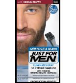 GEL COLORANTE DE PEINADO JUST FOR MEN® PARA BIGOTE, BARBA Y PATILLAS (marrón medio) M35